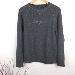 Life Is Good Lambswool Blend Pullover Sweater